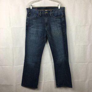 Lucky Brand Slim Straight Blue Jeans Sz 34 31